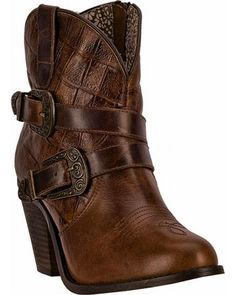 Dingo Ember Short Cowgirl Boots - Round Toe