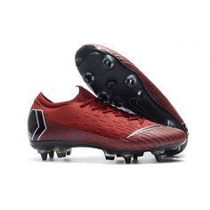 Botas De Futbol Nike Mercurial Vapor XII Elite SG AC Rojo Gris Metálico  Crimson 4d5fa570f71