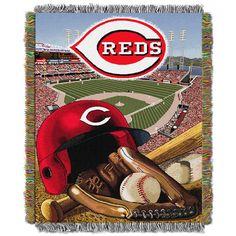 Cincinnati Reds MLB Woven Tapestry Throw (Home Field Advantage) (48x60)