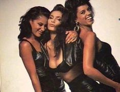 Photo: Denise Matthews with Sisters Renee and Patricia | http://www.thelastdragontribute.com/denise-vanity-matthews/