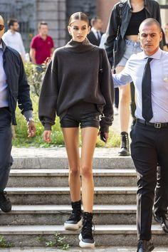 Kaia Gerber: Leaves the Max Mara Fashion Show – GotCeleb - Sporty Outfits Kaia Gerber, Kaia Jordan Gerber, Rande Gerber, Look Fashion, Fashion Show, Fashion Outfits, Fashion Trends, Fashion 2018, Fashion Clothes