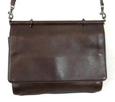 COACH Vintage Whitney Kelly Brown Leather Convertible Top Handle Purse 9185 #Coach #ShoulderBag