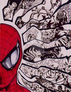 Spider-man and Villians by AtticArtWork
