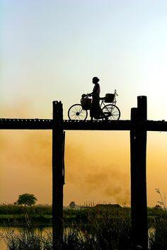 "Amarapura, Burma. ""Going Home."" Photo: Robin Thom"