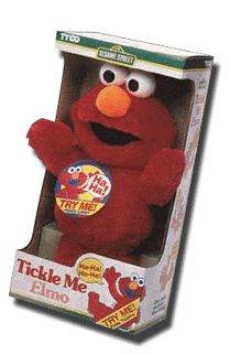 "In 1996, Tyco sent a Tickle Me Elmo doll to daytime talk show host Rosie O'Donnell for her  young son. She used it in a stunt for an episode in October.  Sesame Workshop says that O'Donnell's show ""had an early hand in launching the Tickle Me Elmo"" sensation.  On Black Friday, the day after Thanksgiving, Tickle Me Elmo sold out of stores around the country within two hours and Tyco couldn't keep up with the demand. The company reportedly sold over 5 million between 1996 and 1997."