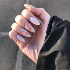 127 beauty designs for almond nails shape 17 Creative Nail Designs, Creative Nails, Best Acrylic Nails, Acrylic Nail Designs, Nail Design Spring, Fire Nails, Dream Nails, Stylish Nails, Perfect Nails