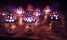 leuchtende Dekoration für Garten aus Ton