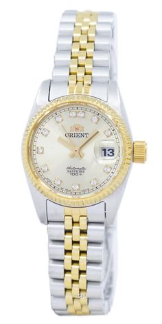 Orient Automatic Japan Made Diamond Accent Women's Watch for sale online Stainless Steel Bracelet, Stainless Steel Case, Orient Watch, Authentic Watches, Crystal Champagne, Presents For Her, Modern Jewelry, Rolex Watches, Bracelet Watch