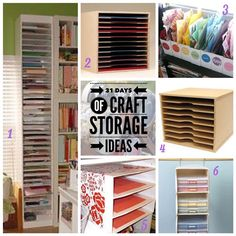 Welcome to day two of the 31 Days of Craft Storage Ideas. Today is all about storing paper. I'm sharing ideas to store full size sheets of scrapbook paper and even scraps. I've found some great DIY...