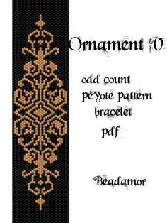 Peyote Pattern for bracelet: Ornament V - INSTANT DOWNLOAD pdf                                                                                                                                                                                 More