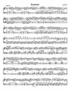 1 Page Version - Free Piano Sheet Music – Sonatina in G – Beethoven