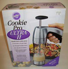 2104-4018 Wilton Cookie Pro Ultra II Deluxe Cookie Press NEW chrome #Wilton