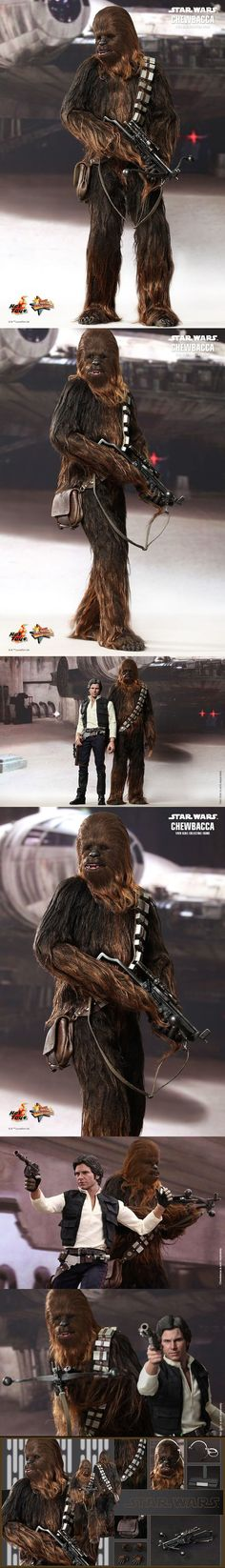 The New Hot Toys Star Wars Chewbacca Figures is Simply Incredible  Read more at http://nerdapproved.com/approved-products/the-new-hot-toys-star-wars-han-solo-and-chewbacca-figures-are-simply-incredible/#T0IVBoJGx8vkc7Ws.99