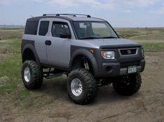 Lifted Honda Element. Looks goofy but i bet its fun. I'd totally lift Rosa.