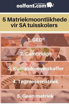 Die voor- en nadele van elkeen van die 5 roetes om matriek te maak | Tuisskool | tuisskool in Afrikaans | oolfant.com