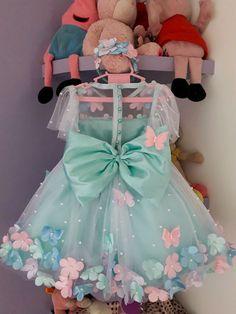 Fairy Birthday Cake, Pretty Birthday Cakes, Baby Girl Fashion, Kids Fashion, Dress Anak, Baby Frocks Designs, Tutu Costumes, Cute Girl Photo, Birthday Dresses