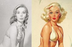 We've Never Seen The REAL Women Behind Iconic Pin-Up Paintings Of The 50s...Until Now