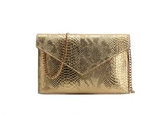 Snake Print Clutch with Sling  Price: £15 (Small) / £17 (Large) 【Size】33 x 22 (Large)               31 x 21 (Small) 【Sling】110cm 【Material】PU with Snake print  【Color】Black, Red, Silver, Gold, Champange, Grey