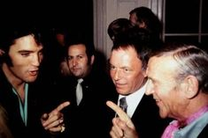 Elvis Presley with Fred Astaire  and Frank Sinatra