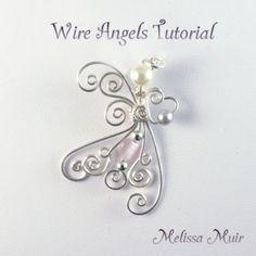 Wire Angel Pendant/BroochTutorial by kcjewelbox on Etsy, $10.00