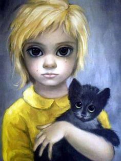 Margaret Keane: Mother of Big-Eye Art As a child I had this pic in My bedroom forever!