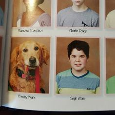 We love that this school included Presley the service dog in its yearbook. So sweet!