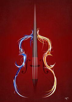 Double bass by ~DavidMel on deviantART