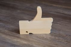 Unfinished wood cool LIKE icon ENGRAVING. Extraordinary gift