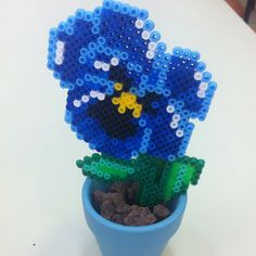 Flower pot hama perler beads