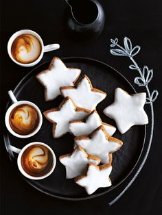 spiced star cookies from donna hay Star Cookies, Biscuit Cookies, Spice Cookies, Baking Cookies, Coffee Menu, Iced Coffee, Coffee Time, Coffee Corner, Coffee Scrub