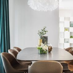 Residential complex Dinamic City, Bucharest is the backdrop for this apartment, designed using Dofinteriors stylistic philosophy of aesthetic balance Residential Complex, Dining Table, Mood, Living Room, Elegant, Projects, Furniture, Natural, Design