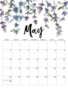 2020 Free Printable Calendar - Floral - Paper Trail Design May 2020 Free Printable Calendar - Floral. Watercolor flower design calendar pages for a office or home calendar for work or family organization. Cute Calendar, Printable Calendar Template, Print Calendar, Calendar Pages, Blank Calendar, Calendar Ideas, Weekly Planner Printable, Floral Printables, Free Printables