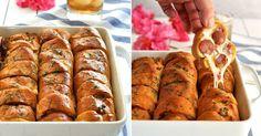 Křupavé a pikantní mini pizzy za pár minut Chicken Wings, Sausage, French Toast, Pizza, Brunch, Bread, Snacks, Breakfast, Mini