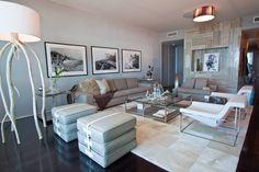 LivingRoom Miami Beach Interior Design Residential Project The Bath club small DKOR Interiors - Modern - Living room - Images by DKOR Interiors | Wayfair