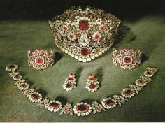 Let's look at rubies today...    The Duchess of Roxburghe's Rubies     Romanov ruby necklace purchased by Imelda Marcos     Cartier ruby nec...