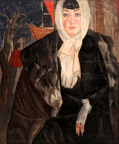 Portrait of a Woman, 1917 by Boris Grigoriev (Russian, 1886 - 1939)