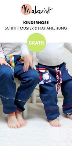 Gratis Anleitung: Gemütliche Kinderhose nähen - Schnittmuster und Nähanleitung via Makerist.de