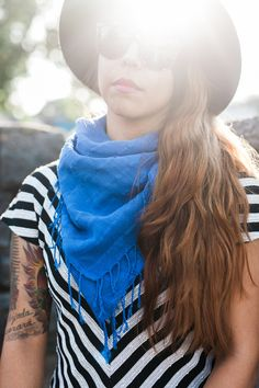 Great summer look. The scarf is named after one of the heroic women @livefashionable works with.