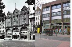 298-Charing Cross Road, Goslett's builders merchants 1960 and 2012 by Warsaw1948, via Flickr