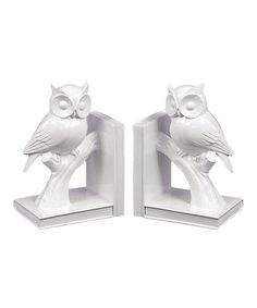 Take a look at this White Owl Bookend - Set of Two by Urban Trends Collection on #zulily today!
