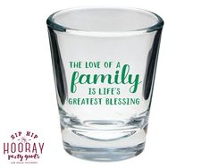 Shot Glasses Family Reunion Shot Glass Family Reunion Gifts Shot Glasses Family Trip Gifts Family Tree Favors Party Favors 1538 by SipHipHooray