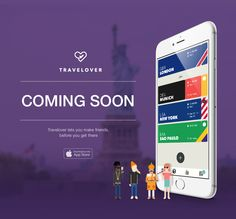 Travelover coming soon. #app #ui #gui #ux #travel #travelover