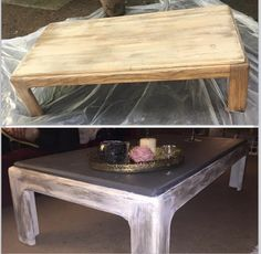 Chic rustic coffee table with a chalkboard top Rustic Coffee Tables, Chalkboard, Projects To Try, Chic, Top, Furniture, Home Decor, Shabby Chic, Elegant