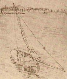 Vincent van Gogh: Sailing Boat on the Seine at Asnières Paris: April-September, 1887 (Amsterdam, Van Gogh Museum)