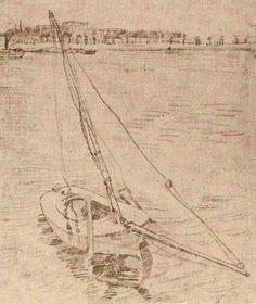 Paris 1887 Sailing Boat on the Seine at Asnières (Amsterdam, Van Gogh Museum)