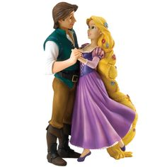 This Disney Enchanting figurine is of Rapunzel and Flynn Rider named My New Dream. It features the magical moment of Rapunzel and Flynn Rider dancing. Disney Rapunzel, Rapunzel And Eugene, Princess Rapunzel, Disney Disney, Disney Princesses, Disney Stuff, Disney Magic, Cartoon Characters, Flynn Rider