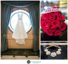 details shot of dress on the disney fantasy shot by collette mruk for disney cruise line wedding