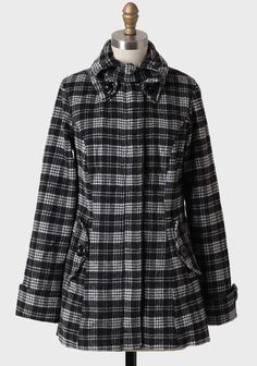 Nice collar and pattern and cuff work. Snowy Pathways Plaid Coat | Modern Vintage Outerwear