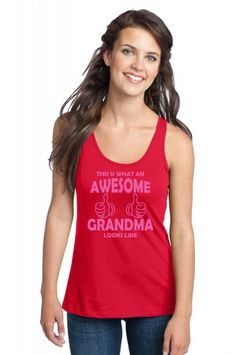 this is what an awesome grandma looks like 2 copy Racerback Tank