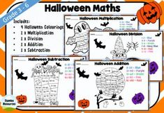 This is a great independent maths activity for students to do during Halloween. It will brighten up your class and develop mental maths skills at the same time! The multiplication and division worksheets will challenge your students, whilst the addition and subtraction are great differentiation. This is one your class will love! Multiplication And Division Worksheets, Kids Math Worksheets, Math Activities, Maths Halloween, Teaching Math, Teaching Resources, Mental Maths, Math Skills, Addition And Subtraction